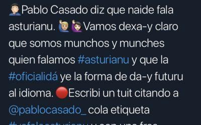 La campaña #yofaloasturianu respuende a Pablo Casado
